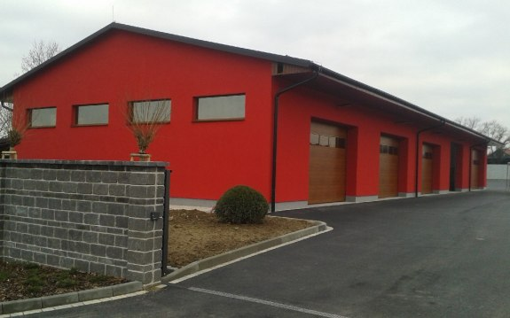 Výstavba areálu autodopravy MK